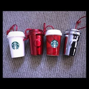 Starbucks Christmas Ornaments Variety of 4